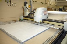 Gerber cutting system can achieve maximum fabric usage so drastically reduces waste.