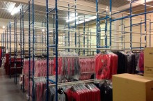 We can store up to 60,000 hanging garments and 120,000 boxed garments in our metal free warehouse.
